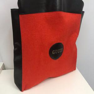 Gucci Bags - Vintage Gucci Shopper Tote Red Felt